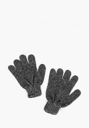 Перчатки Jack Wolfskin MERINO GLOVE. Цвет: серый