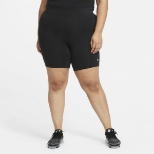 Женские велошорты со средней посадкой Sportswear Essential (большие размеры) - Черный Nike