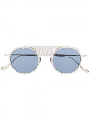 Солнцезащитные очки в декорированной оправе Matsuda. Цвет: серебристый