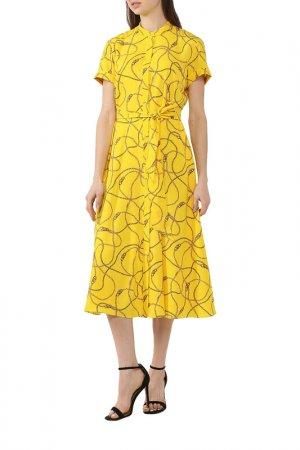 Платье LAUREN RALPH. Цвет: желтый