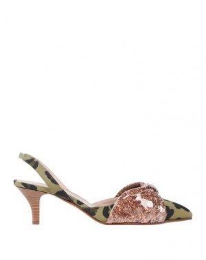 Туфли ALBERTO GOZZI. Цвет: зеленый-милитари