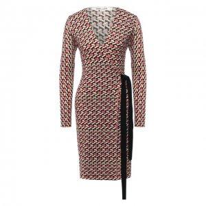 Шерстяное платье Diane Von Furstenberg. Цвет: разноцветный