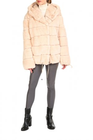 Short fur coat Manakas. Цвет: beige