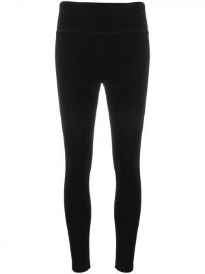 Легинсы с контрастными вставками DKNY. Цвет: черный