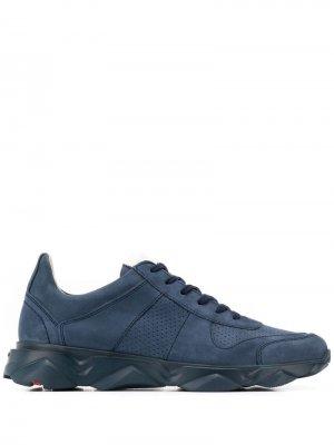 Кроссовки на шнуровке с перфорацией Lloyd. Цвет: синий