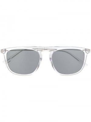 Солнцезащитные очки в квадратной оправе Diesel. Цвет: серый