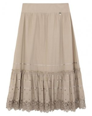 Длинная юбка 22 MAGGIO by MARIA GRAZIA SEVERI. Цвет: бежевый