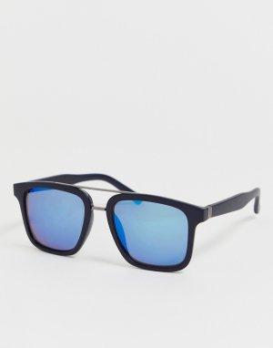 Солнцезащитные очки в черной квадратной оправе -Черный Jack & Jones
