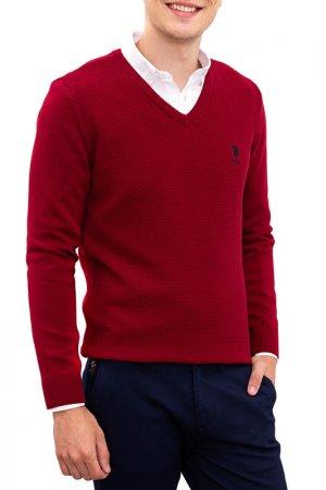Пуловер U.S. Polo Assn.. Цвет: vr014 бордовый