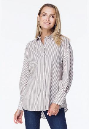 Рубашка Vilatte. Цвет: бежевый