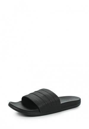 Сланцы adidas adilette CF+ mono. Цвет: черный