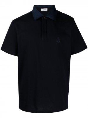 Рубашка поло с вышитым логотипом LANVIN. Цвет: синий