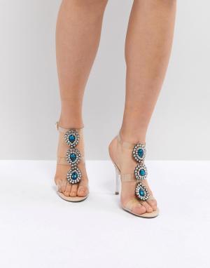 Прозрачные босоножки на каблуке Blue By Betsy Johnson Sylvi-Розовый Betsey