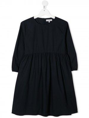 Поплиновое платье миди Woolrich Kids. Цвет: синий