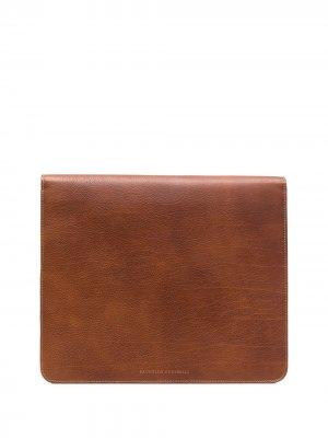 Сумка для ноутбука на молнии Brunello Cucinelli. Цвет: коричневый
