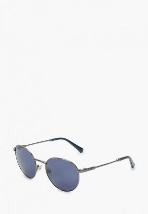 Очки солнцезащитные Guess. Цвет: синий