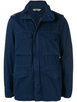 Куртка с карманами Aspesi. Цвет: синий