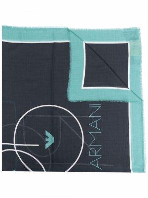Graphic logo scarf Emporio Armani. Цвет: черный
