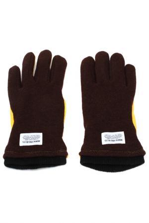Перчатки NORSE PROJECTS. Цвет: желтый, коричневый