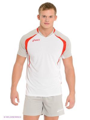 Волейбольная форма SET TIGER MAN ASICS. Цвет: белый, светло-серый, красный