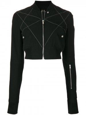 Укороченная куртка-бомбер Rick Owens DRKSHDW. Цвет: черный