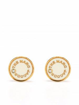 Logo-print stud earrings Marc Jacobs. Цвет: нейтральные цвета