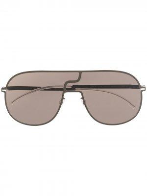 Солнцезащитные очки-авиаторы Studio Mykita. Цвет: коричневый
