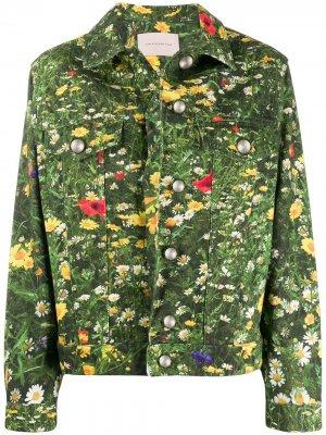 Джинсовая куртка London Fields Christopher Kane. Цвет: зеленый