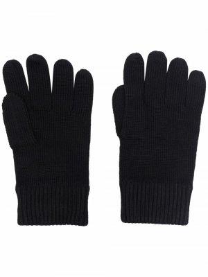 Перчатки с вышитым логотипом Tommy Hilfiger. Цвет: черный