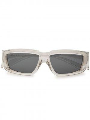 Солнцезащитные очки в прозрачной квадратной оправе Rick Owens. Цвет: разноцветный
