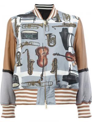 Двусторонняя куртка бомбер Undercover. Цвет: многоцветный