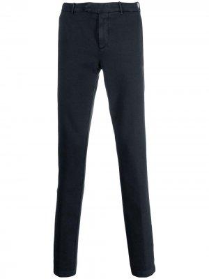Классические брюки чинос кроя слим Eleventy. Цвет: синий