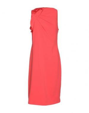 Платье до колена BADGLEY MISCHKA. Цвет: коралловый