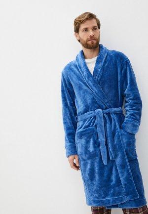 Халат домашний Mark Formelle. Цвет: синий