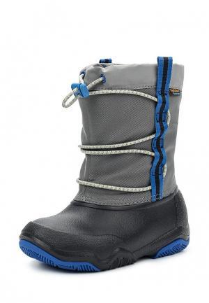 Дутики Crocs Swiftwater Waterproof Boot K. Цвет: серый