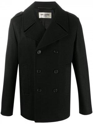 Бушлат с боковыми карманами Saint Laurent. Цвет: черный
