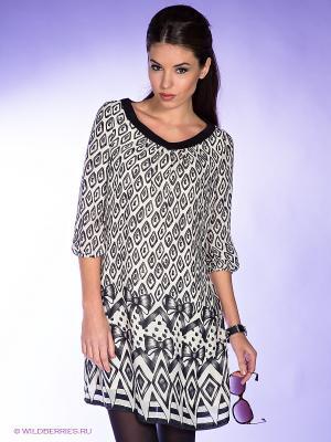Платье Killah. Цвет: черный, молочный