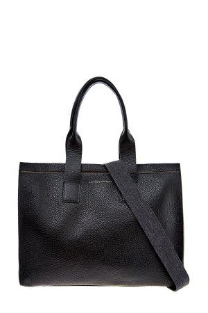 Большая сумка-тоут с отделкой Мониль BRUNELLO CUCINELLI. Цвет: черный