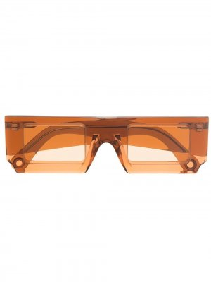 Солнцезащитные очки в прямоугольной оправе Jacquemus. Цвет: оранжевый