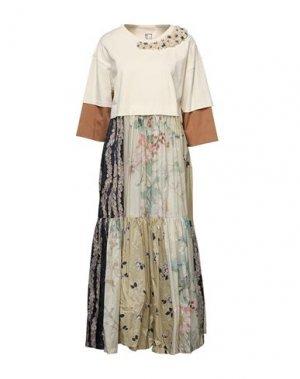 Длинное платье ANTONIO MARRAS. Цвет: бежевый