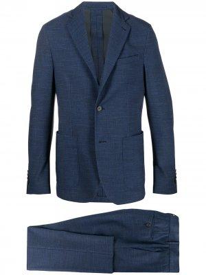 Костюм-двойка с однобортным пиджаком Traiano Milano. Цвет: синий