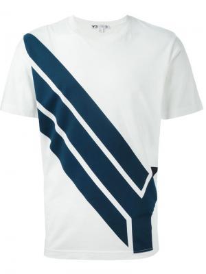 Футболки и жилеты Y-3. Цвет: белый