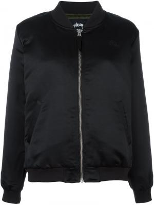 Bomber jacket Stussy. Цвет: чёрный