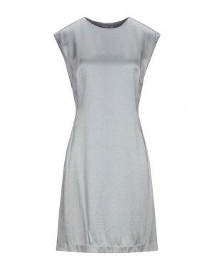 Короткое платье THEORY. Цвет: серый