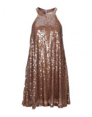 Короткое платье ANIYE BY. Цвет: песочный