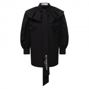 Хлопковая блузка Givenchy. Цвет: чёрный