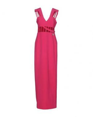 Длинное платье MANGANO. Цвет: фуксия