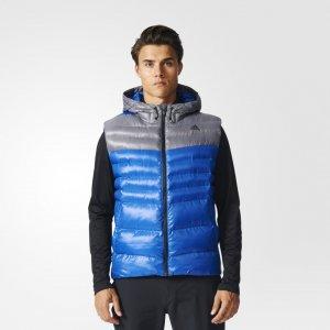 Утепленный жилет Hooded TERREX adidas. Цвет: серый