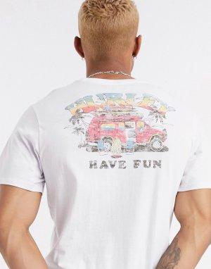 Белая футболка -Белый Hurley