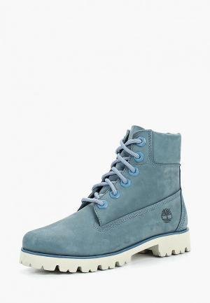 Ботинки Timberland Heritage 6-Inch. Цвет: голубой